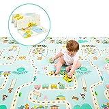 Milliard Baby Spielmatte/Faltbare Krabbelmatte für Kleinkind, Umweltfreudlich/Ungiftig Bodenmatte aus XPE Material, Wasserdicht (Große 195 x 177 cm)
