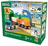 BRIO Bahn 33878 - Starterset Güterzug mit Kran