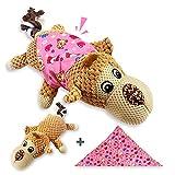 TINGERIA® Hunde Kuscheltier AFFE X-Groß, Hundespielzeug, Welpenspielzeug quietschend, Plüschtier unzerstörbar, Hunde Spielsachen, Welpenspielzeug, interaktive Spielzeuge für Hunde