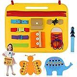 aovowog Spielzeug ab 1 2 3 4 Jahr Montessori Spielzeug Busy Board,Beschäftigtes Brett Fädelspiel Babyspielzeug für Kleinkinder Kinder,Sensorikspielzeug Lernspielzeug für Motorik Verschlüsse üben