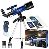 Teleskop für Kinder und Einsteiger für Beobachtung von Himmel und Landschaft- 70mm fernrohr Teleskop Astronomisches Mit verstellbarem Stativ