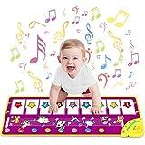 WEARXI Baby Mdchen Spielzeug Ab 1 2 3 Jahre - Musikmatte Kinderspielzeug Ab 1 2 Jahre, Keyboard Kinder, Tanzmatte Klaviermatte Geschenke fr Kinder, Klaviertastatur Mdchen Jungen mit 8 Tierstimmen