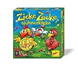 Zoch 601121800 Zicke Zacke Hühnerkacke, Kinderspiel 1998, rasantes Gedächtnisrennen, für Kinder ab 4 Jahren, Brown