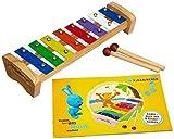Kikaninchen Xylophon für Kleinkinder mit einer Oktave (Eichhorn)