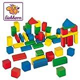 50 bunte Holzbausteine in praktischer Aufbewahrungsbox  (Eichhorn)