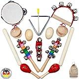 15-teiliges Set an orffschen Instrumenten für Kinder ab 3 Jahren (Schmetterline)