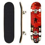 WeSkate Skateboard Komplett Board 79x20cm Holzboard ABEC-7 Kugellager 31 Zoll 7-lagigem Ahornholz, 87A Rollen für Anfänger Kinder Jugendliche und Erwachsene