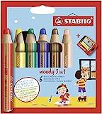 Buntstift, Wasserfarbe & Wachsmalkreide 3 in 1 (STABILO)