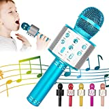 KIDWILL Bluetooth Karaoke Mikrofon, 5 in 1 Drahtloser Mikrofon für Kinder, Kinder Mikrofon mit Lautsprecher | Remix | FM-Radio, Tragbares Mikrofonspielzeug für Kinder Erwachsene Geburtstagsfeier KTV