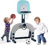 Hadwin Basketballständer Basketballkorb Set Kinder 3 in 1 Sport Aktivität einstellbares Basketballspielzeug für Kleinkinder