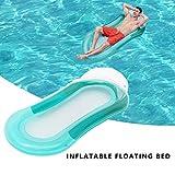 Aufblasbares Schwimmbett, Pool aufblasbare hängematte Wasser Loungesessel Pool luftmatratze Pool aufblasbare hängematte für Erwachsene (Grün)