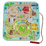 Stadtlabyrinth Magnetspiel - pädagogisches Holzspielzeug (HABA)
