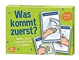 Was kommt zuerst?: Denk- und Legespiele mit 32 Karten für Kinder von 3 bis 8: Denk- und Legespiele mit 32 Karten fr Kinder von 3 bis 8 (Denk- und Legespiele für Kinder)
