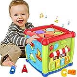 ATCRINICT Baby Aktivität Würfel Spielzeug für 1 Jahre altes Baby Spielzeug 6 12 Monate Musik und Sound Geschenk für Jungen und Mädchen