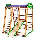 Kinder zu Hause aus Holz Karapuz Baby Spielplatz Rutschbahn Kletternetz Ringe Kletterwand