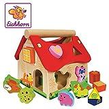 'Holz-Steckhaus  - Zuordnungsspiel für 1-Jährige (Eichhorn)