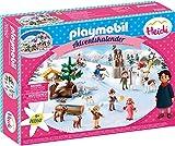 PLAYMOBIL Adventskalender 70260 Heidis Winterwelt, Für Kinder ab 4 Jahren
