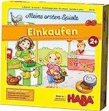 HABA 302781  Meine ersten Spiele  Einkaufen, Spiel ab 2 Jahren mit 3D-Marktstand und Spielmaterial aus Holz