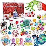 2021 Fidget-Adventskalender für Kinder, 24 Tage Weihnachten, Countdown-Kalender, sensorischer Stressabbau-Spielzeug-Set, Quetsch-Spielzeug-Set für Weihnachtsfeiern, B-Pack, onesize