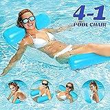 COWINN Aufblasbares Schwimmbett, Wasser-Hängematte 4-in-1Loungesessel Pool Lounge luftmatratze Pool aufblasbare hängematte