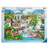 Kinderpuzzle mit 45 Teilen 'Besuch im Zoo' (Ravensburger)