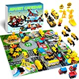 iZoeL Adventskalender Jungen Fahrzeuge 24 Überraschung wie Baufahrzeug Bauarbeiter Bauwerkzeuge Weihnachtskalender Geschenk für Kinder ab 3-12 Jahre