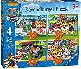 4 einfache Puzzle mit 12/16/20 und 24 Teilen - Paw Patrol (Ravensburger)