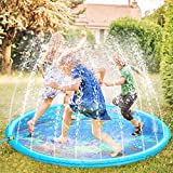 Fostoy Sprinkler fr Kinder, Sprinkler Wasser-Spielmatte Splash Play Matte, Sommer Garten Wasserspielzeug Splash Spielmatte fr Baby Kinder