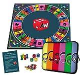 Alleswisser - Das Brettspiel, interaktives Quiz-, Wissens- und Familienspiel mit App fr iOS und Android mit Tasche im Familie-Layout