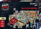 KOSMOS 697983 - Krimi Puzzle: Die ??? Kids - Spuk auf dem Schulfest, Leuchtet im Dunkeln, 200 Teile, Lesen - Puzzeln - Rtsel lsen, fr Kinder ab 8 Jahre