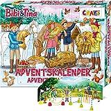 CRAZE Adventskalender 2020 BIBI & TINA Pferde Spielfiguren Set Pferdefiguren Spielset für Mädchen und Jungen 24676