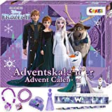 CRAZE Adventskalender 2020 FROZEN II Die Eiskönigin Weihnachtskalender Spielfiguren Kinderschmuck Kinder Haarschmuck 24652