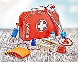 Kinder-Arztkoffer mit stabilen Geräten aus Holz (Selecta)