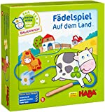 Fädelspiel auf dem Land - Holz-Motorikspielzeug mit Bauernhofmotiven (HABA)