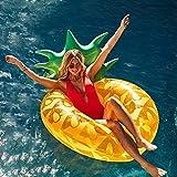 Ginkago Aufblasbar Ananas Luftmatratze Riesiger Schwimmring Pool - Ananas Schwimmreifen Wasser Strand Party Spielzeug wasserspielzeug Sommerspielzeug Kinder Erwachsenen