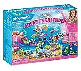 PLAYMOBIL Adventskalender 70777 Badespaß Meerjungfrauen mit vielen Überraschungen z.B. Farben der Meerjungfrauen ändern sich im warmen Wasser inkl. tollen Badeprodukten, 83-teilig, Ab 4 Jahren