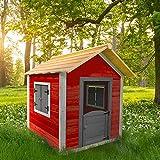 Home Deluxe - Spielhaus aus Holz für Kinder - umweltfreundliches Kinderspielhaus - Das kleine Schloss - 101 x 106 x 128 cm - Inkl. Montagematerial | Gartenhaus Holzhaus Kinderhaus