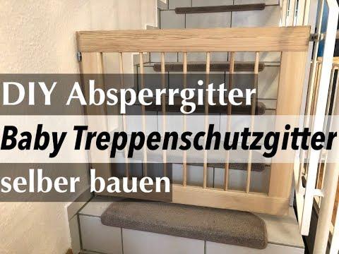 DIY Absperrgitter: Baby Treppenschutzgitter selber bauen - so gehts