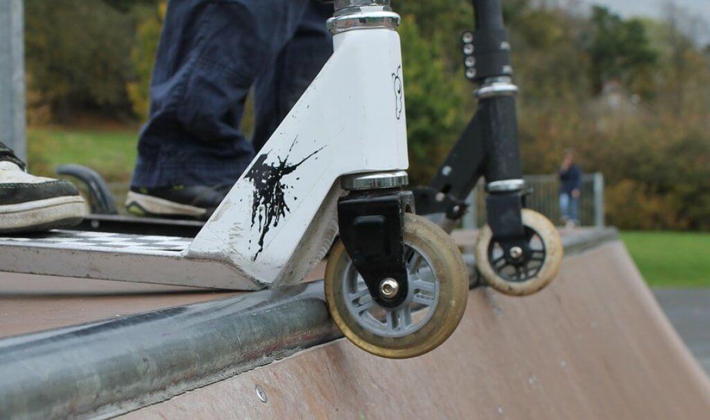 Reifen von einem Cityroller für Kinder
