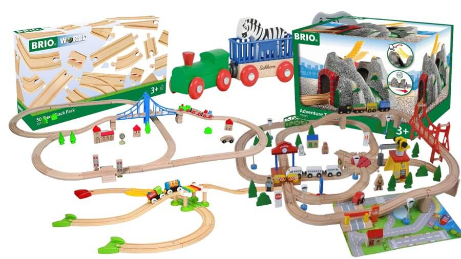 Eisenbahn aus Holz zum Spielen