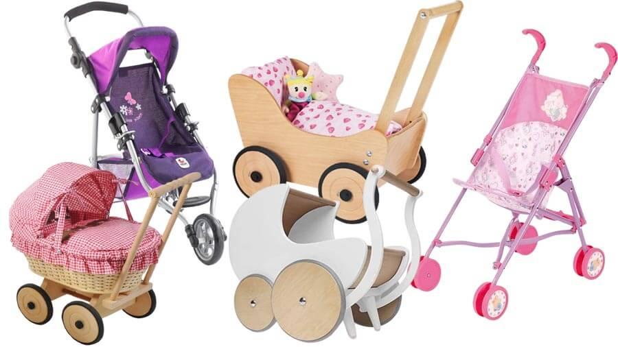 Puppenwagen und Puppenbuggy