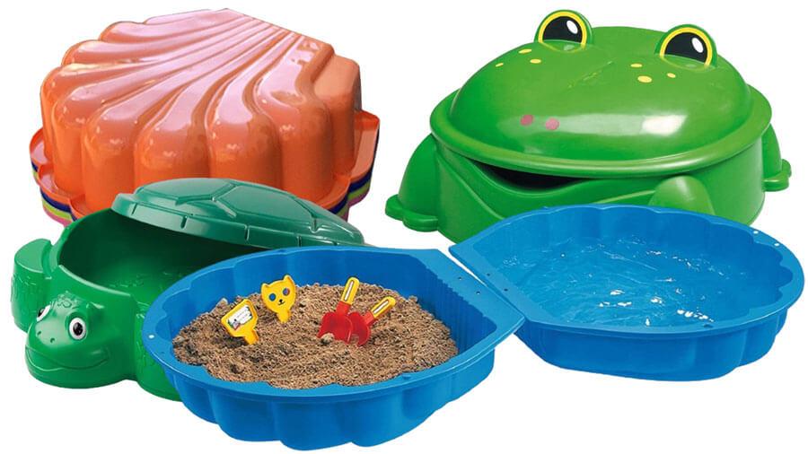 Sand- und Wassermuscheln in vielen Farben