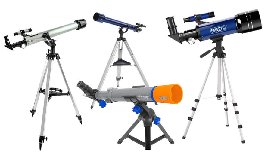 Verschiedene Teleskope für Kinder